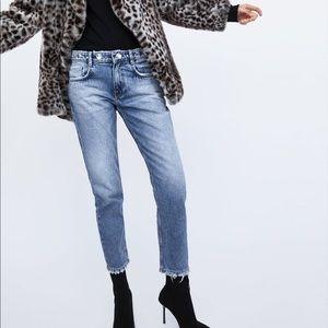 Zara Cigarette Jeans with bejeweled waist